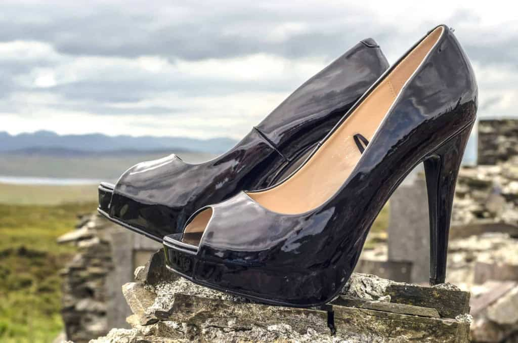 Black Patent Leather High Heels - Liberty Leather Goods