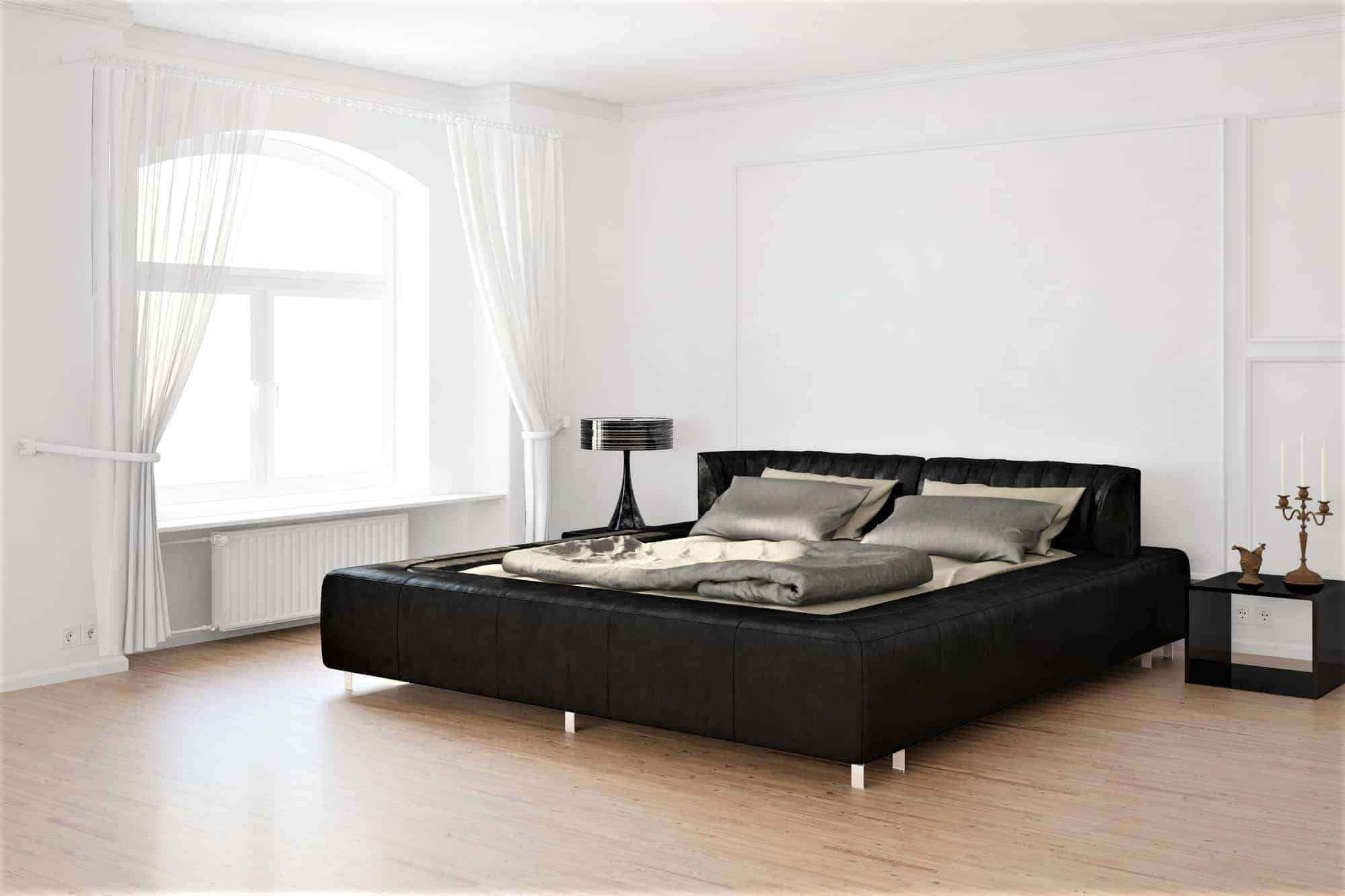 Black Leather Bed Frame - Liberty Leather Goods