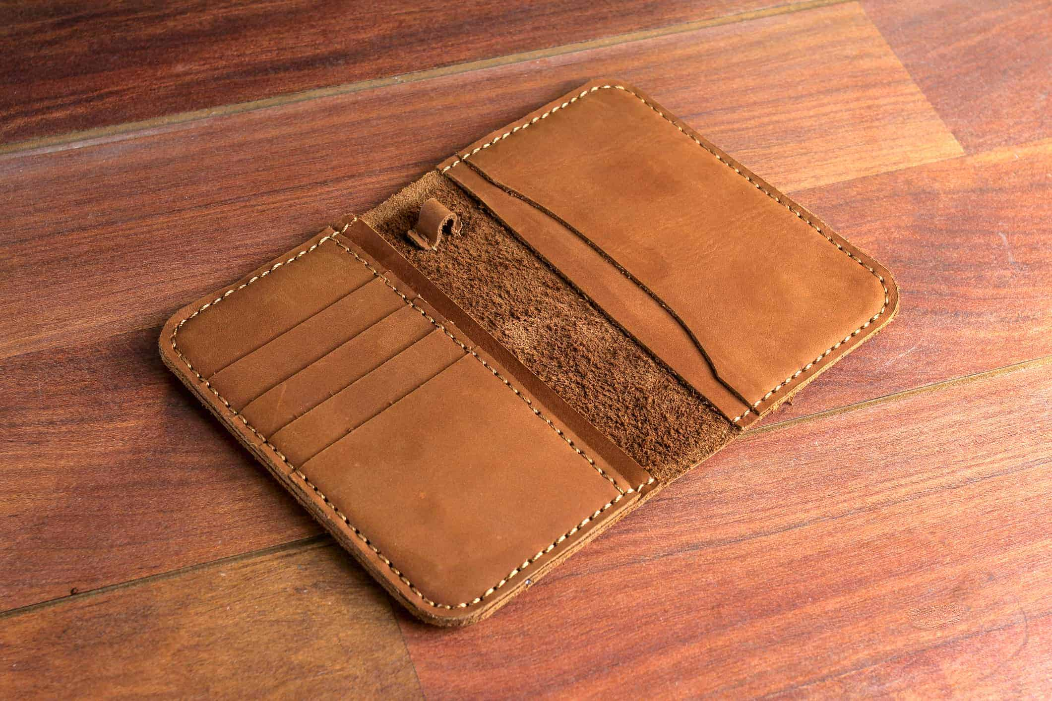 Brown Natural Leather Card Holder - Liberty Leather Goods