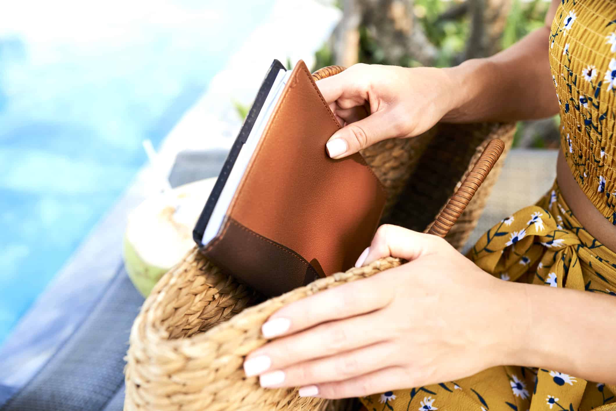 Woman with Leather Journal - Liberty Leather Goods